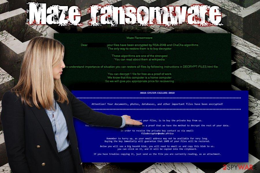 Maze ransomware virus