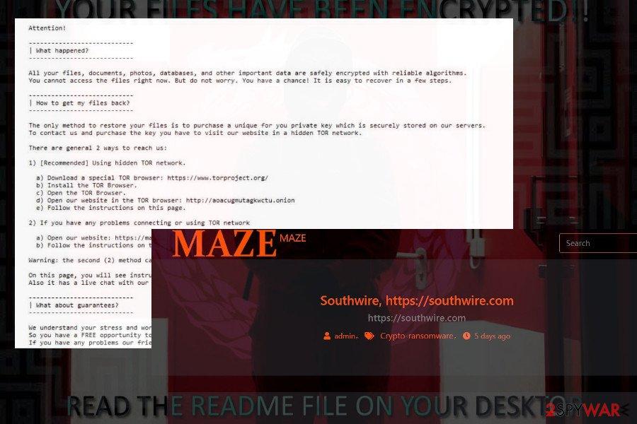 Maze cryptomalware