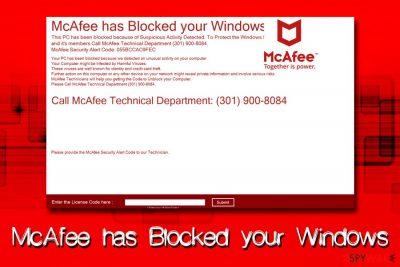 McAfee has Blocked your Windows