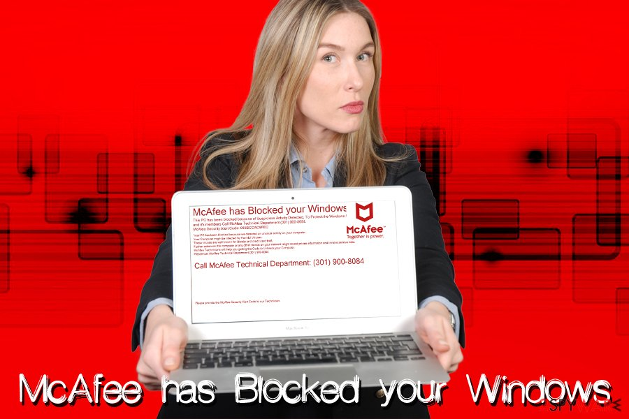 McAfee has Blocked your Windows virus