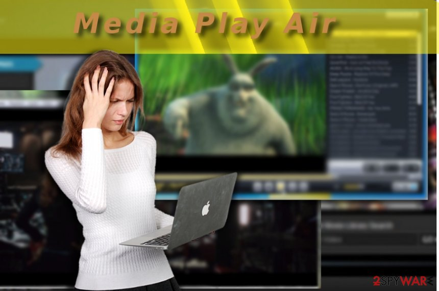The picture illustrating Media Play Air app