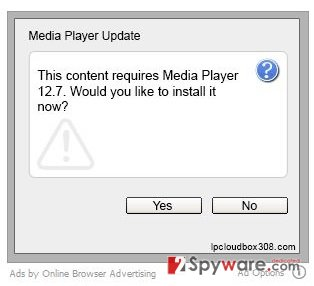Media Player virus snapshot