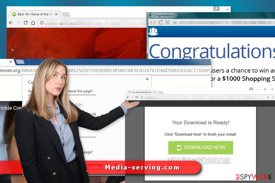 The image of Media-serving.com virus