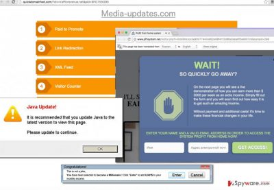 Media-updates.com adware displays various annoying ads