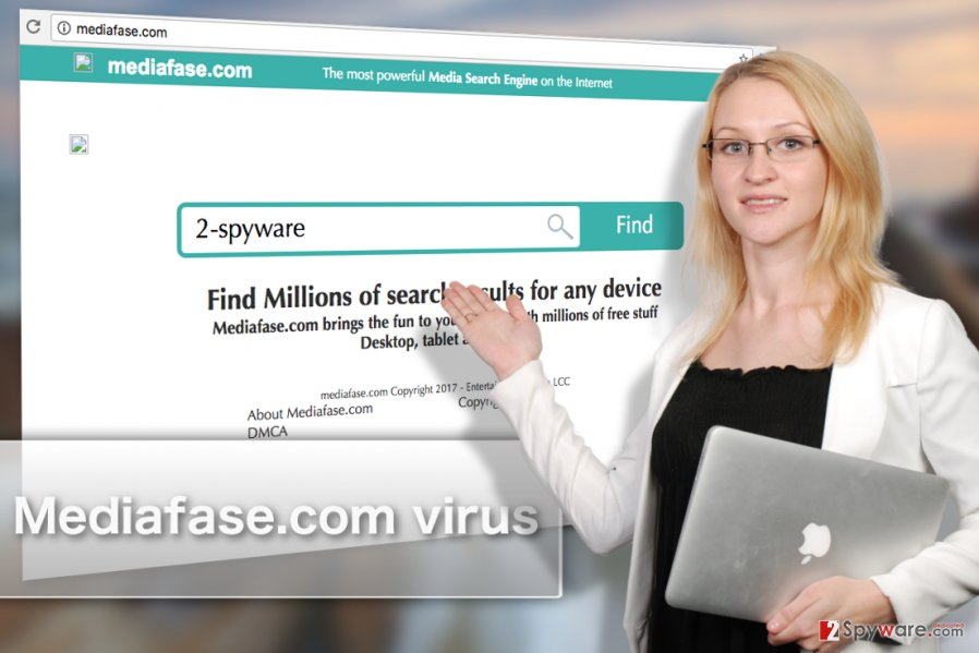 Image of Mediafase.com browser hijacker virus
