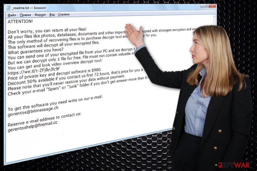 Meds ransomware virus