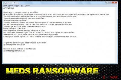 Meds ransomware