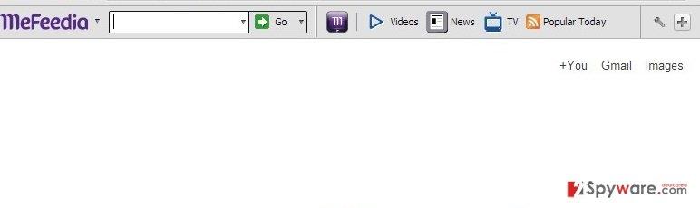 Mefeedia toolbar snapshot