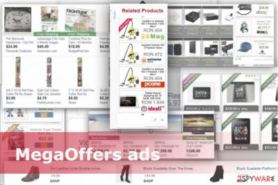 Example of MegaOffers ads
