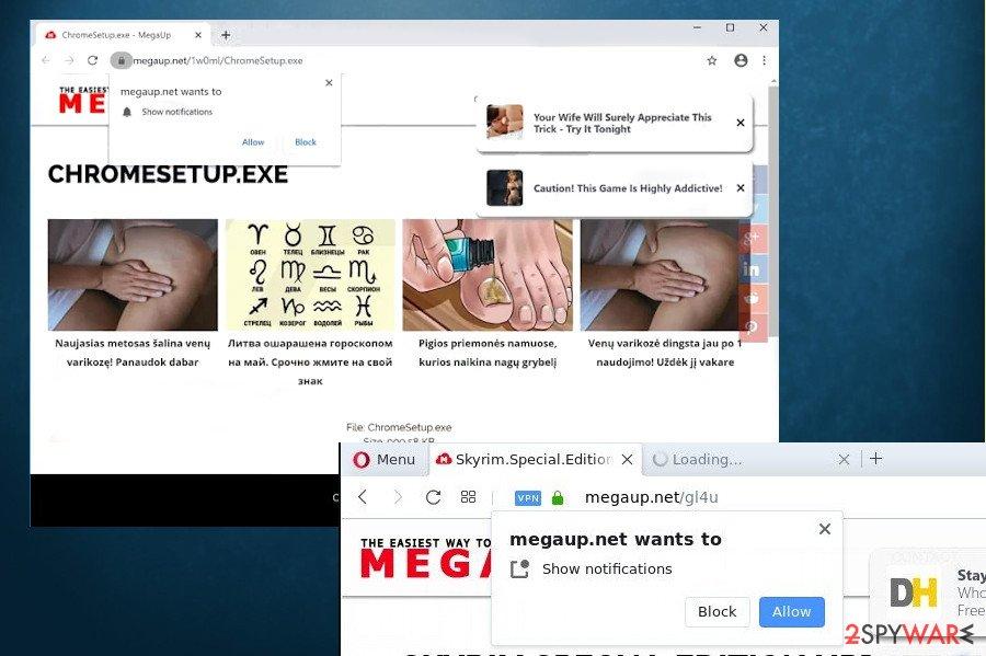 MegaUp.net ads