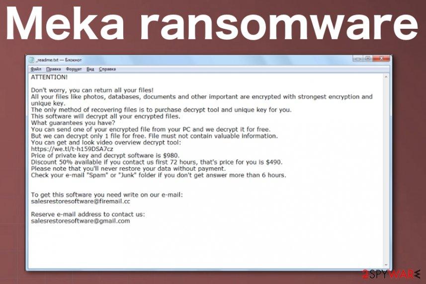 Meka ransomware