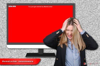 Illustration of MemeLocker ransomware virus