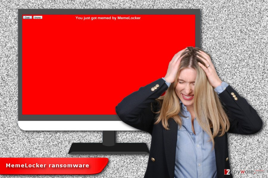 Illustration of MemeLocker ransomware virus