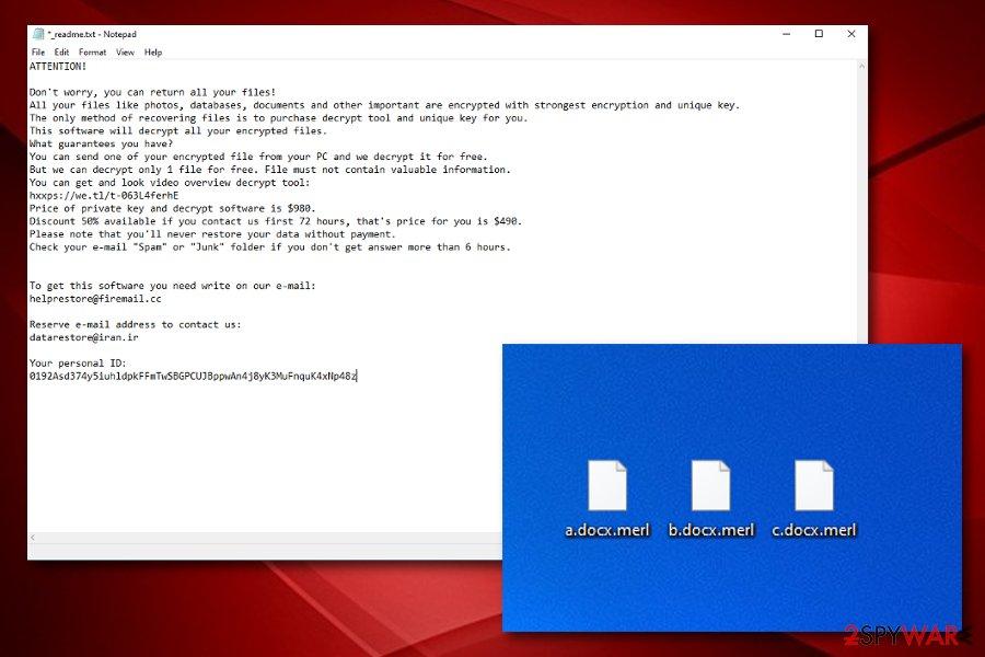 Merl ransomware virus