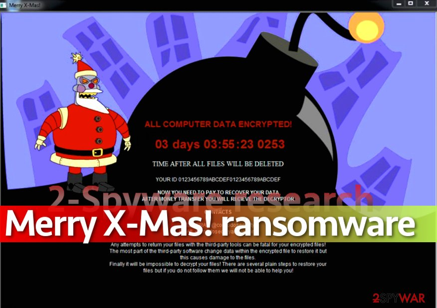 New version of MerryChristmas ransomware