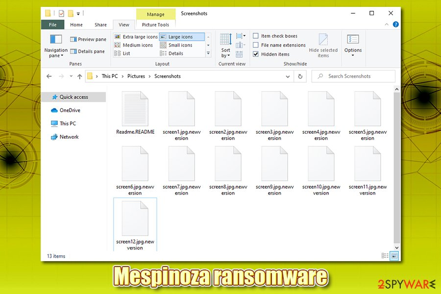 Mespinoza ransomware encrypted files