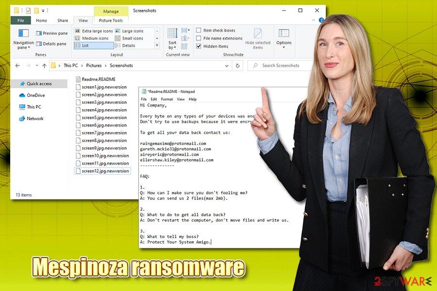Mespinoza ransomware virus