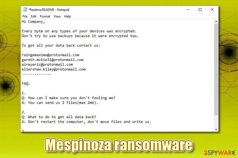 Mespinoza ransomware