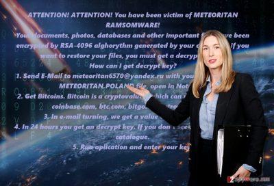 The image of Meteoritan ransomware