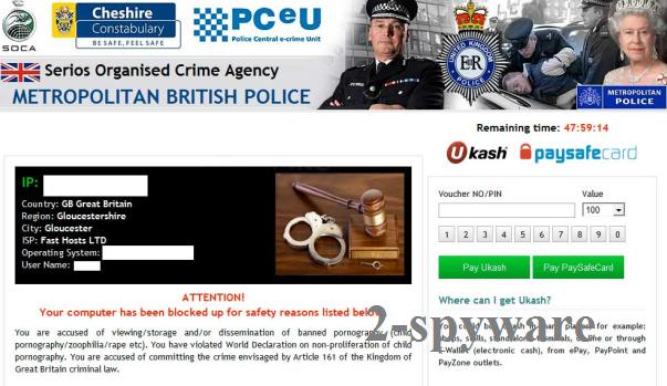 Metropolitan British Police virus snapshot