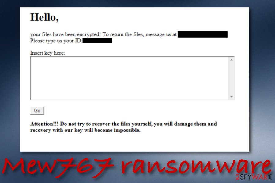Mew767 ransomware