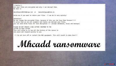 Mhcadd ransomware
