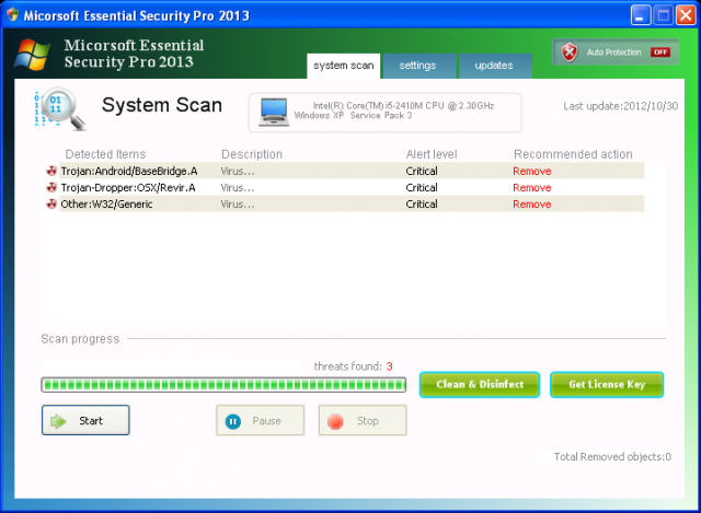 Micorsoft Essential Security Pro 2013