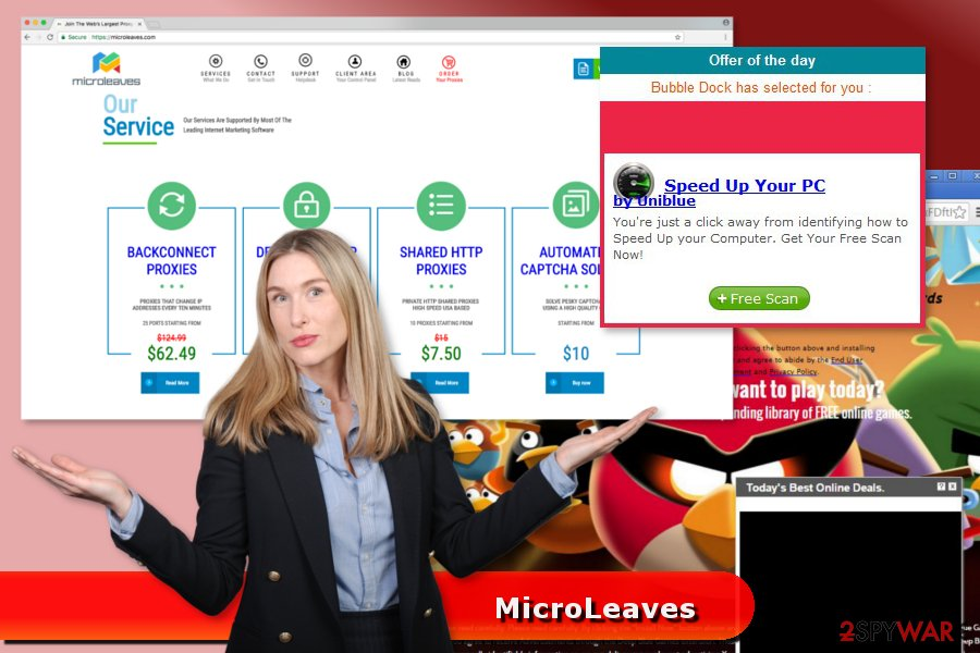Example of MicroLeaves ads