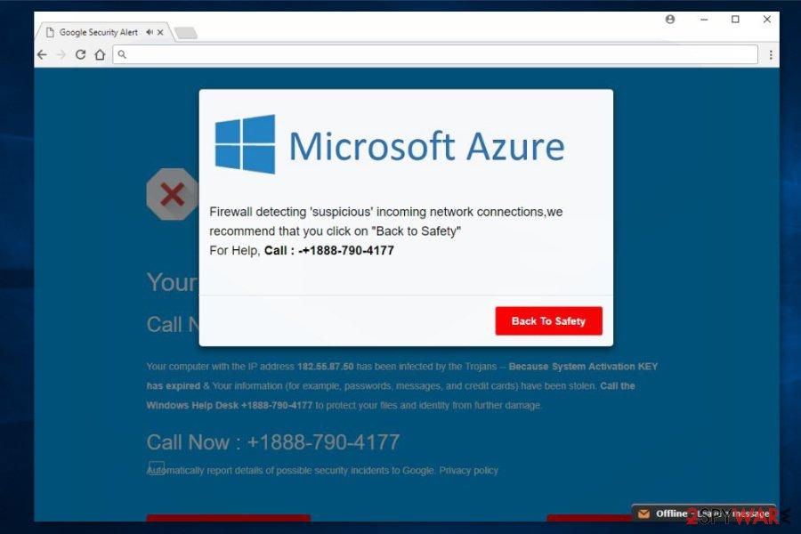 Screenshot of Microsoft Azure ads
