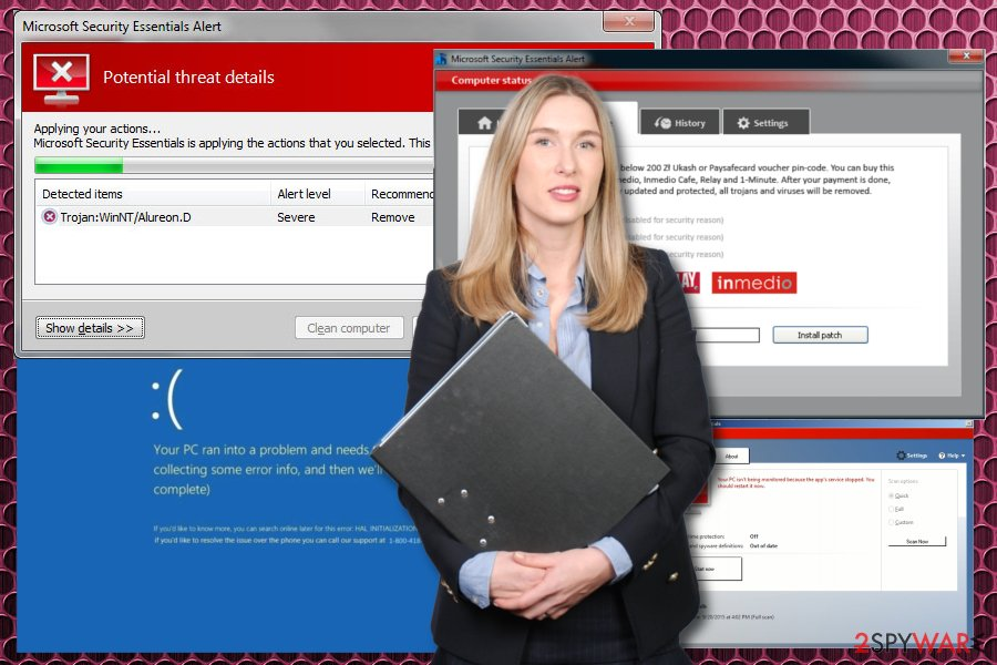 Microsoft Security Essential Alert malware