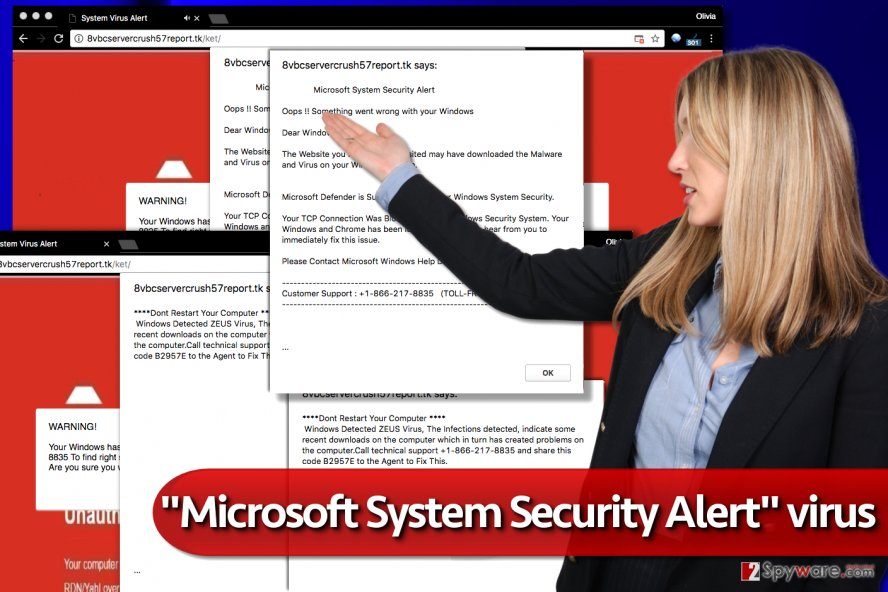 """Microsoft System Security Alert"" virus"