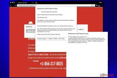 """Microsoft System Security Alert"" pop-up ads"