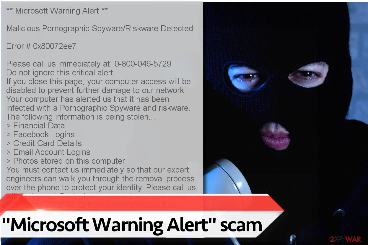 Microsoft Warning Alert virus