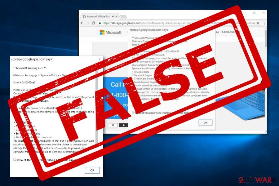 Microsoft Warning Alert virus