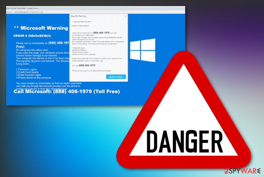 Windows Warning Alert technical support scam