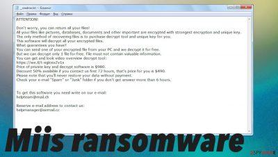 Miis ransomware