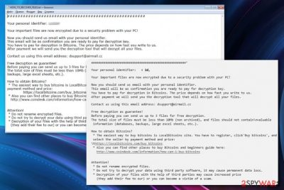 Mimicry ransomware