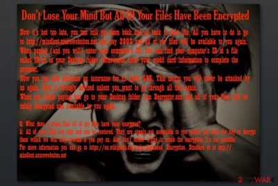 Wallpaper by MindLost ransomware