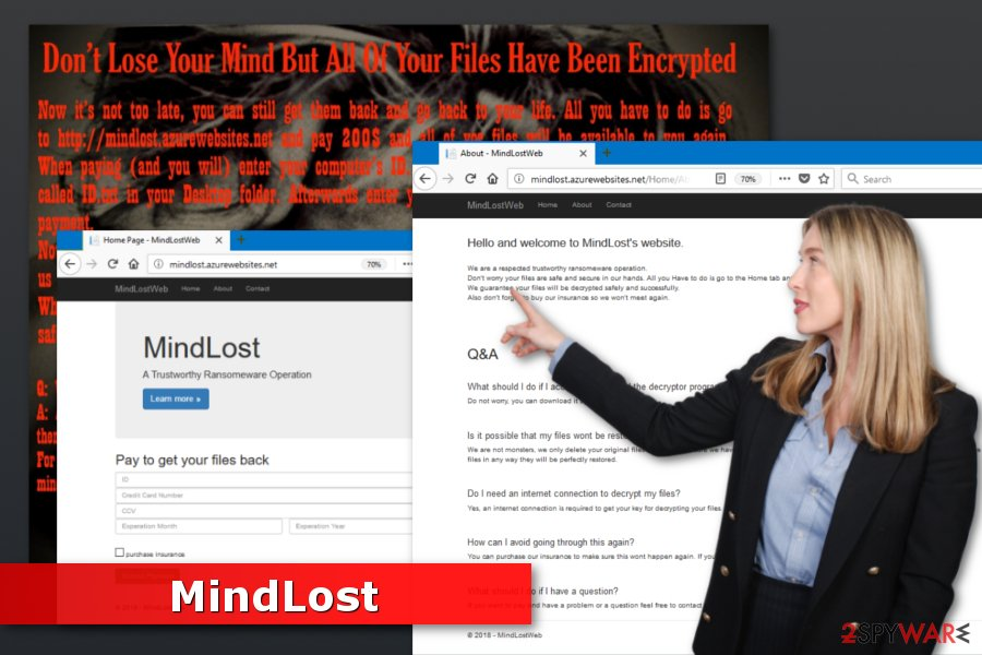 Image of MindLost ransomware