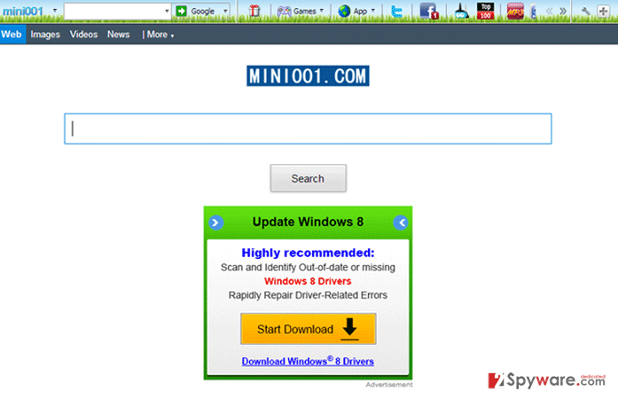 Mini001 Toolbar snapshot
