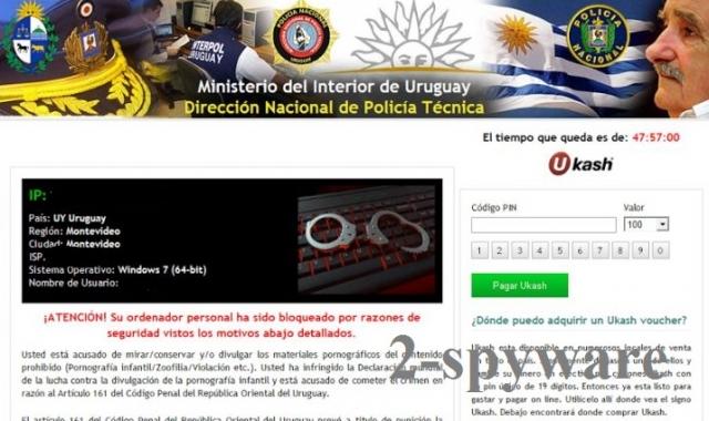 Ministerio del Interior de Uruguay virus snapshot