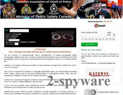 Ministry of Public Safety Canada virus snapshot