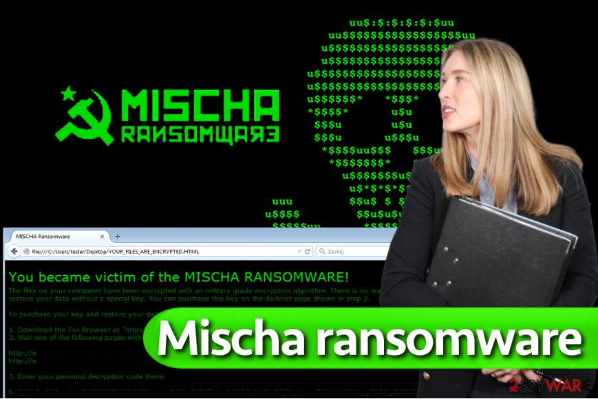 Mischa ransomware virus