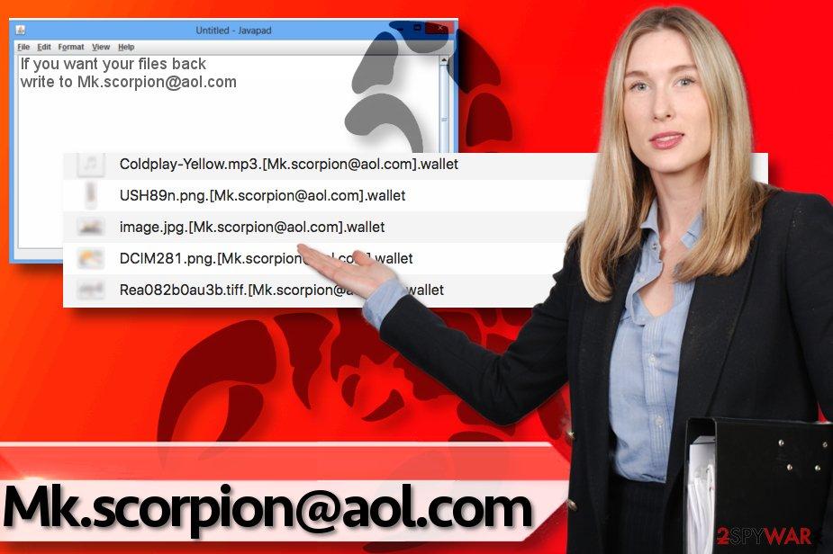 Mk.scorpion@aol.com ransomware virus