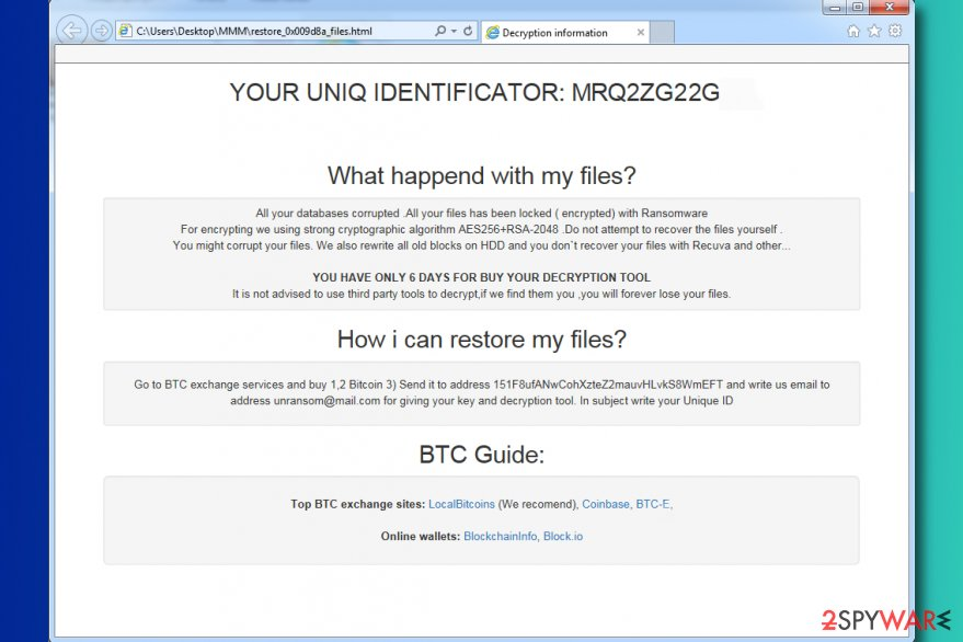 MMM ransomware virus
