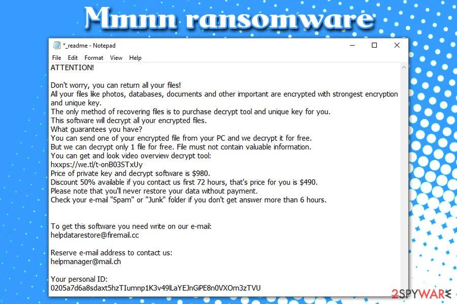 Mmnn ransomware