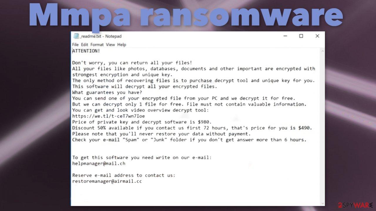 Mmpa ransomware