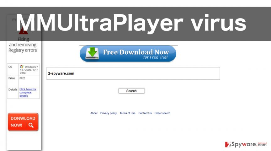 An illustration of the MMUltraPlayer virus