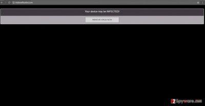 The alert displayed in Mobnotification.com