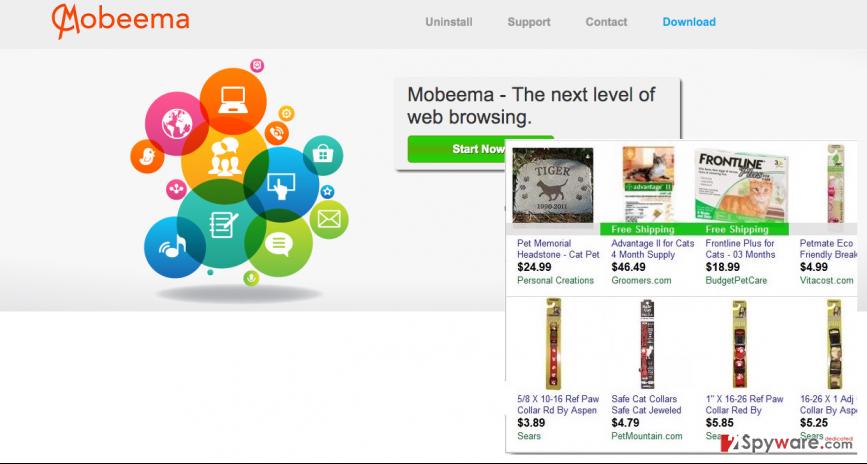 Mobeema virus and its ads